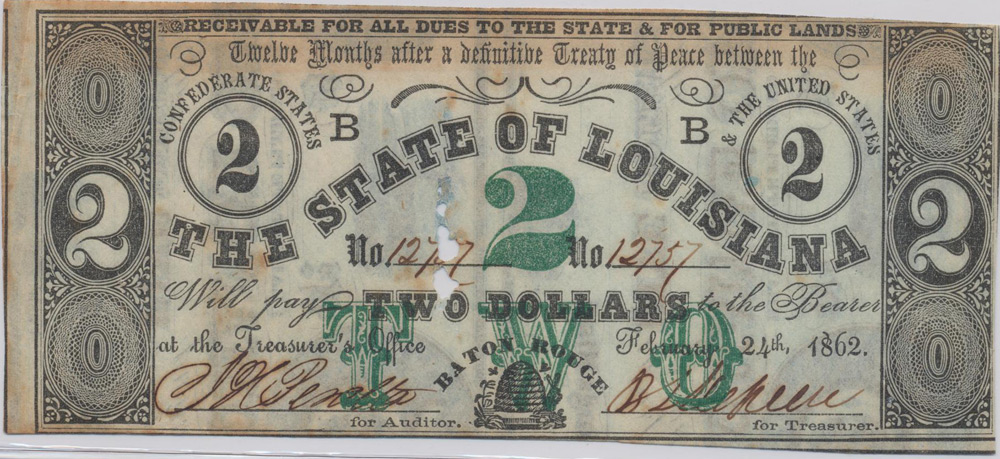 Sons of Confederate Veterans, Camp 16, Paper Money Of The